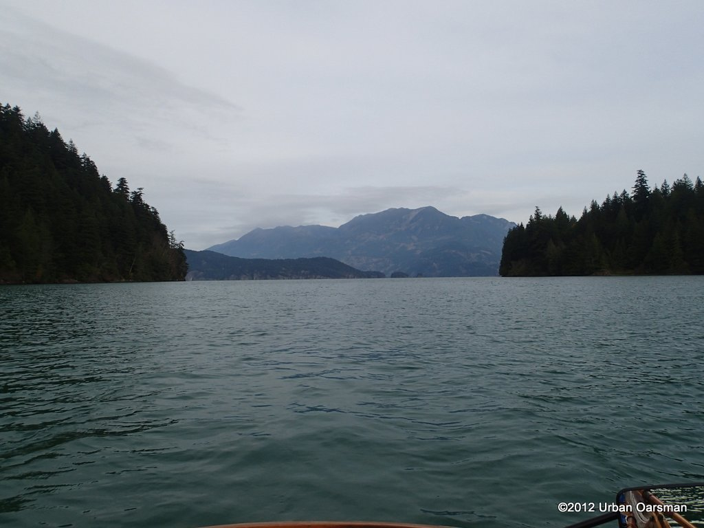 Looking back up towards Harrison Lake.  Whippoorwill Point to the East, Spooks Point to the West.
