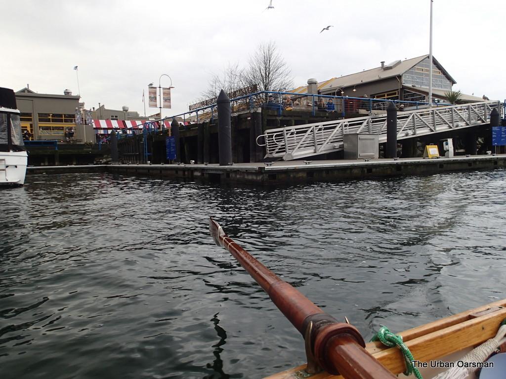 The Urban Oarsman Rows to False Creek on December 28th, 2013
