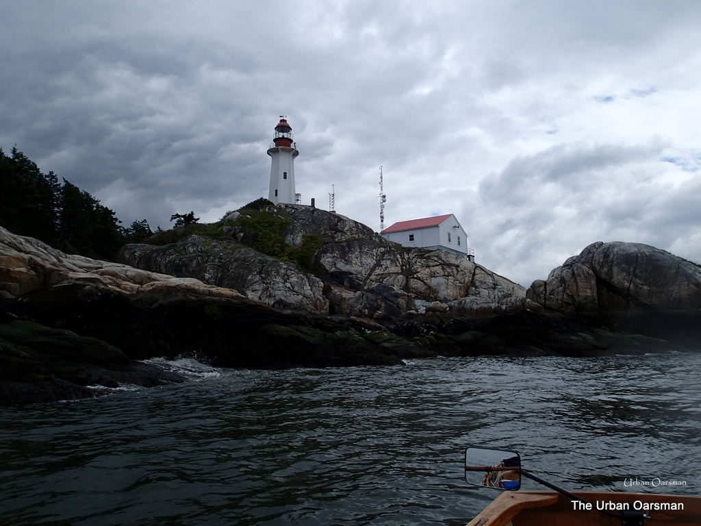 The Urban Oarsman rows the Maelstrom to Point Atkinson, Lighthouse Park