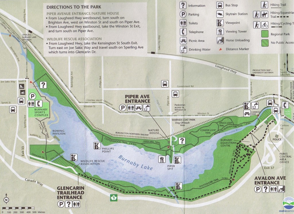 Burnaby Lake Park Map