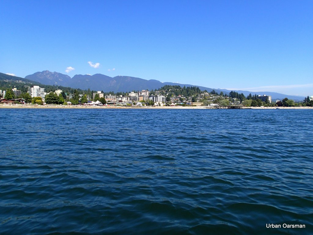 The Urban Oarsman row to the North Arm of the Fraser from Hollyburn Sailing Club.