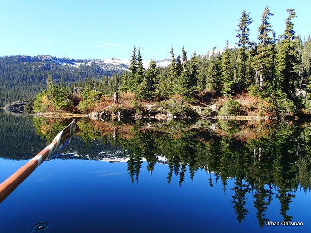 Urban Oarsman rows Callaghan Lake