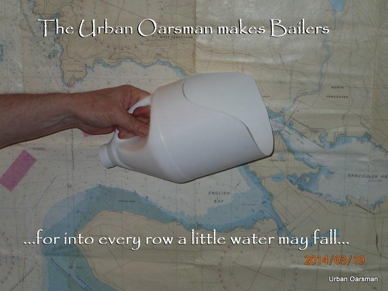 The Urban Oarsman makes bailers