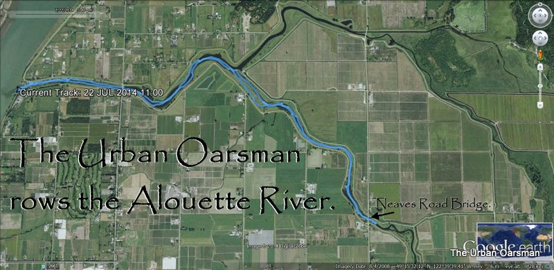 GPS Track of the Alouette River Row.