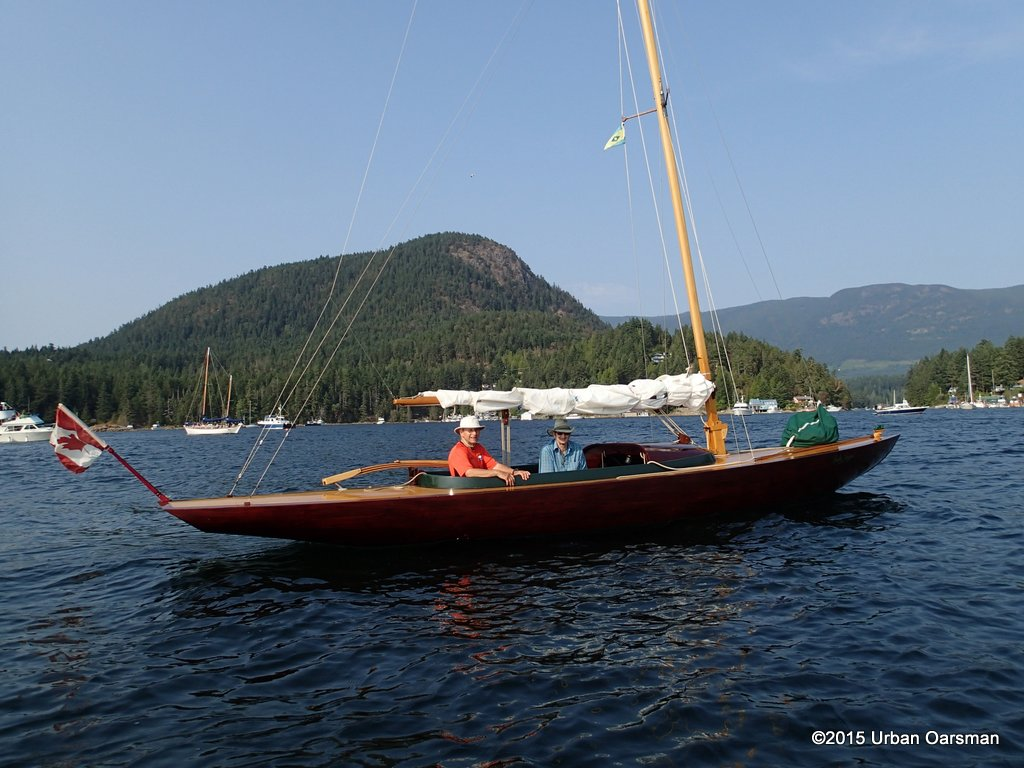 The Urban Oarsman rows at Pender Harbour Days