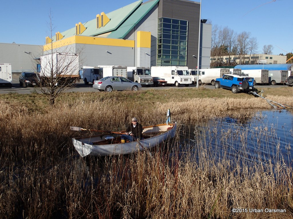 Rowing in the Pond at the Kennedy Heights Printing plant on the last day.