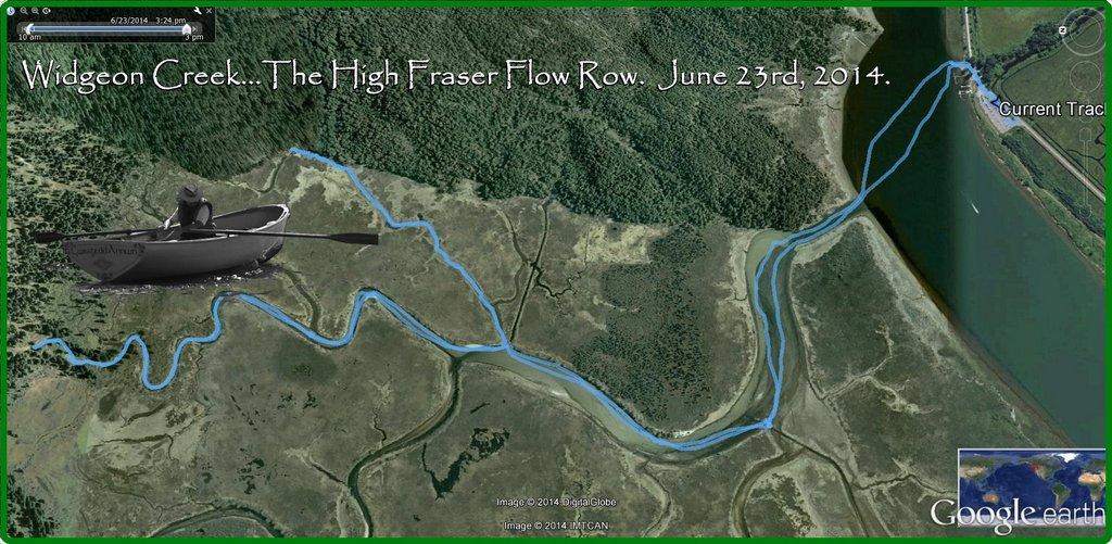 Widgeon Creek High Fraser Runoff water level.